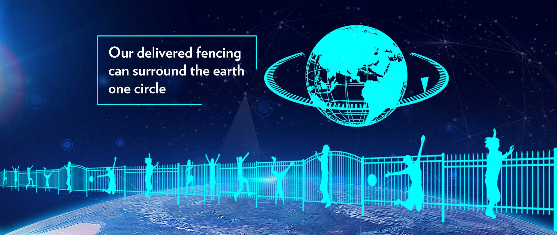Our delivered fencing can surround the world one circle