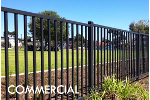 Flat Top Ornamental Steel Fence