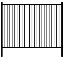 Flat Top Welded Ornamental Steel Fence