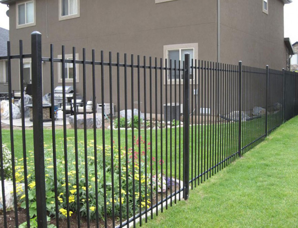 Rod top Ornamental Steel Fence for Residential