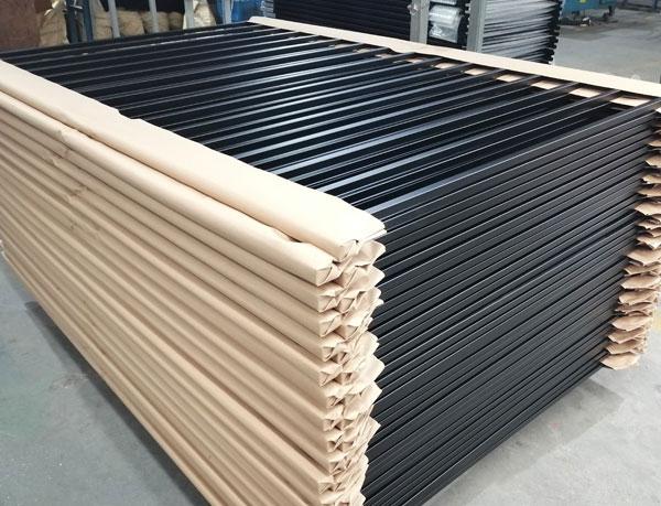 Flat Top Welded Ornamental Steel Fence Panels