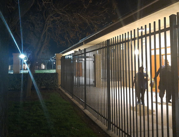 Rod top Ornamental Steel Fence for Commercial