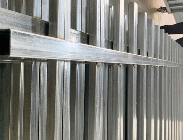 Rod top Ornamental Steel Fence face welded
